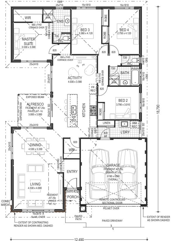 Coogee Floor Plan Plunkett homes vasse house and land package