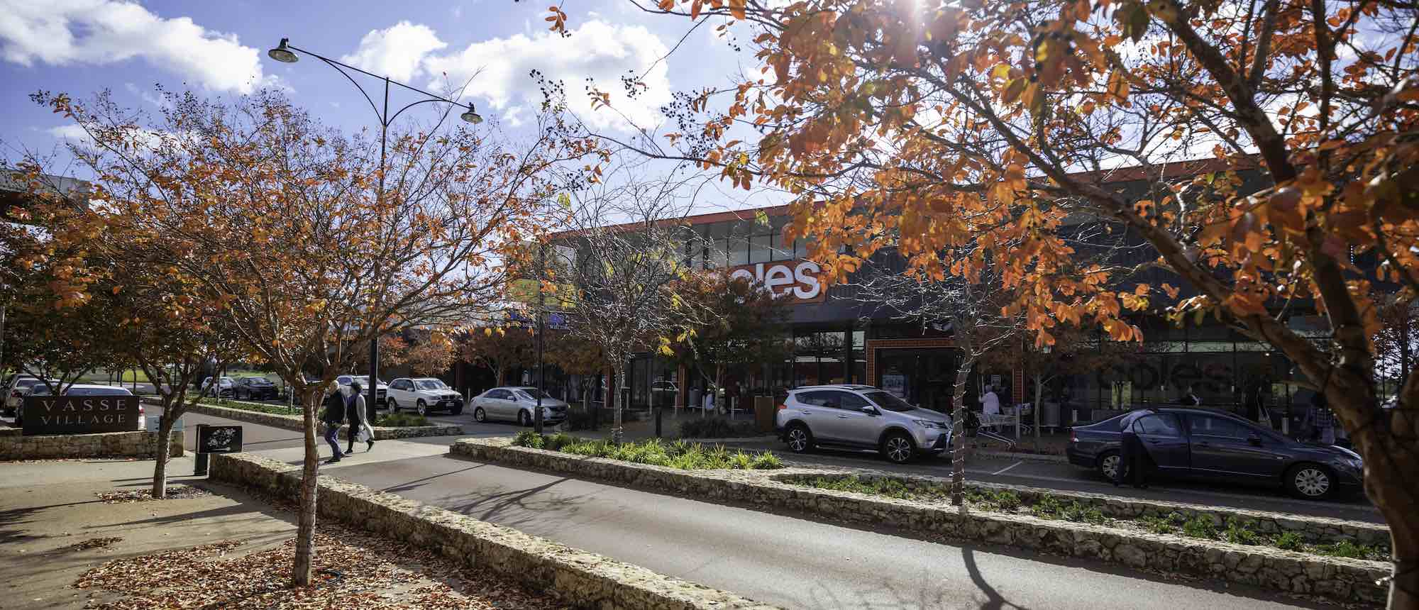 vasse-village-coles-streetview-shops-autumn-trees